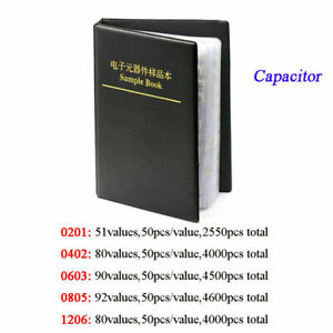 0201 0402 0603 0805 1206 Smd smt Capacitors Sample Book Components Assorted Kit