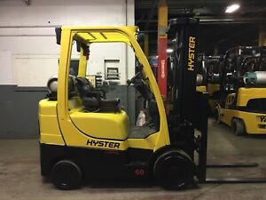 2013 Hyster 6000 Lb Forklift With Side Shift And Triple Mast