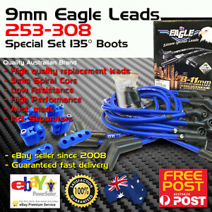 Eagle 9mm Spark Plug Leads Fits Holden V8 308 Around R Covers 135 Boots Mts