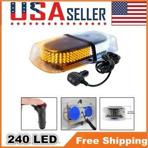 Amber Roof Flash Strobe Light 240 Led Bar Snow Plow Security Light Replacement