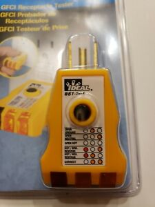 Ideal Industrial 61 501 Receptacle electric Wiring Detector Tester With Gfci
