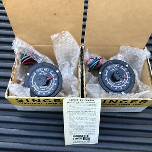 Unused New In Box Singer Industrial Timer 24 Hour Pair 115v 60 Hz Rs 24h Usa
