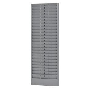 Jumbo Time Card Rack With Adjustable Pockets Employee Office Warehouse Work Site