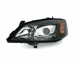 Left Headlight Xenon For Opel Astra G Vp472l Clear Glass Black Lhd