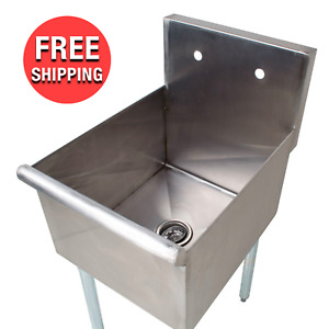 18 inch Commercial 1 Compartment Stainless Steel Restaurant Kitchen Utility Sink