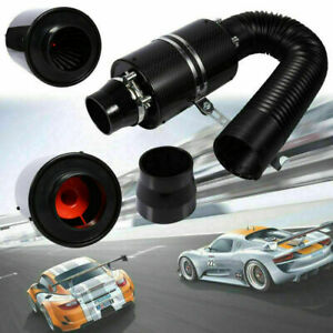 Universal 3 Car Cold Air Filter Feed Enclosed Intake Induction Pipe Hose Kit