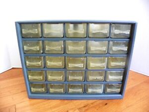 Vintage 25 Drawer Tool Nut bolt Small Parts Storage Cabinet