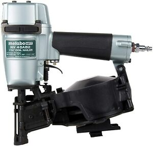 Metabo Hpt Air Coil Roofing Nailer 1 3 4 Nv45ab2 Nail Gun With 1 Year Warranty