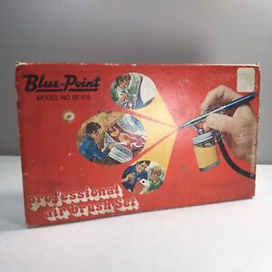 Vtg Snap On Blue Point Bf170 Professional Airbrush Set Usa In Box