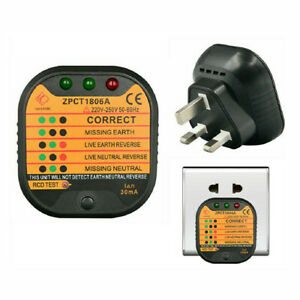 Auto Uk Electrical Socket Outlet Tester Polarity Automatic House Detector 30ma