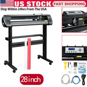 28 Inch 720mm Paper Feed Vinyl Plotter Cutter Machine With Stand Software Us