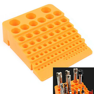 84 Holes Milling Cutter Storage Box Mill Drill Bit Organizer Case Large Capacity