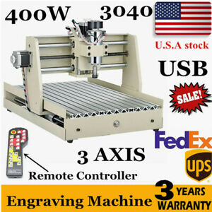 3 Axis Cnc 3040 Router Er11 Usb 400w 3d Milling Drilling Cutter Wood pvc remote