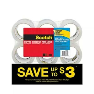 Scotch 38506 3 Inch Heavy Duty Shipping Packaging Tape 6 Pack