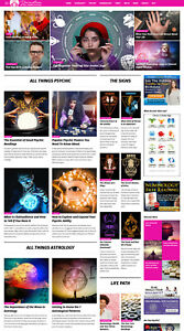 New Age Psychic Tarot Astrology Numerology Website For Sale Fun Vibrant Design