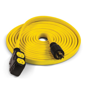 Generator Extension Cord 25 Ft 30 amp 4 outlet Heat Resistant Thermoplastic Cpe