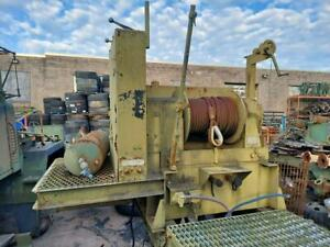 45 000 Lb Hydraulic Winch Assembly With Mount And Pump Military Surplus