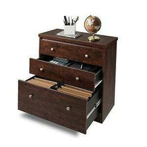Lateral File Cabinet 3 Drawer Wood Storage Cabinet With Hanging Letter legal