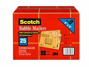Scotch Bubble Mailer 6 X 9 inches Size 0 25 pack