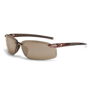 Crossfire Bifocal Safety Glasses 1 5 Diopter Brown Mirror Lens
