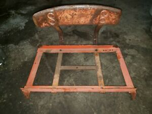 Allis Chalmers B Tractor Seat Frame An Backrest Ac B Seat Frame Square Seat