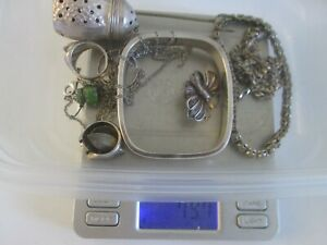Sterling Silver Assorted Jewelry Lot Wear Or Scrap 79 7 Gr All Sold As One