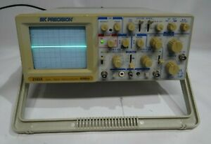 Bk Precision 60 Mhz Oscilloscope Model 2160a With Probe Tested Working