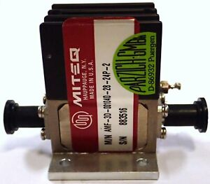 Miteq Amf 3d 001040 28 24p 2 Amplifier Gain 29db 0 1 4ghz Noise 2 8db Sma Tested