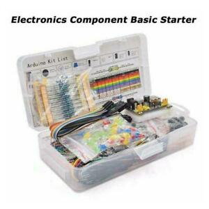 Electronic Component Starter Kit Wires Breadboard Buzzer Resistor R5y0 C9z3
