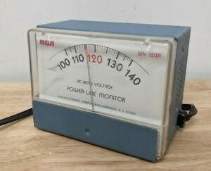 Ac Rms Power Line Monitor Rca Meter Wv 120b Vintage Electronic Test Equipment