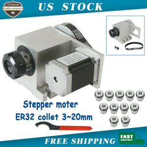 New Hollow Shaft Router 4th Axis A Axis Er32 Collet 3 20mm Cnc Engraving Machine