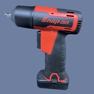 New Snap On Microlithium Cordless 1 4 Impact Wrench Red With Battery Ct725
