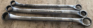 3 Vintage Craftsman Metric Offset Double Box End Wrench v v forged Usa