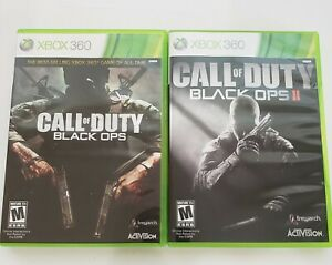 UNTESTED XBOX 360 Call Of Duty Black Ops and Black Ops II Lot of 2 Games $30.00