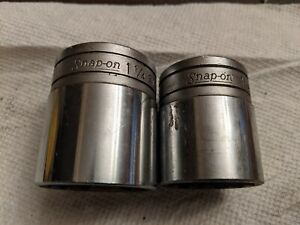 Vintage Snap On 1 2 Drive Sockets 1 1 4 And 1 1 8