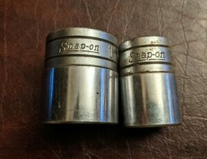 Vintage Snap On 1 2 Drive Sockets Tw 321 And Tw 241 1 And 3 4