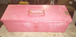 Farmall M H Sm Md Tractor Side Tool Box Ihc Sh others Frame Mount With Brackets