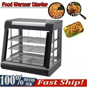 Commercial Food Warmer Court Heat Food Pizza Display Warmer Cabinet 48 Glass