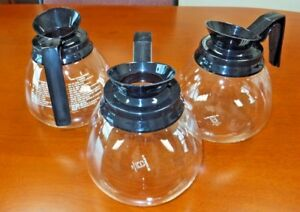 Lot Of 3 Coffee Pot decanter carafe Black 64 Oz For Commercial Bunn Machines