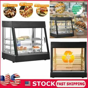 35 Commercial Food Warmer Court Heat Food Pizza Display Warmer Cabinet Glass Us