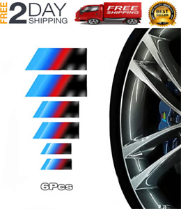 3pcs Bmw M Logo Emblem Badge For Trunk And Fenders M Sport Badge 3d Decal