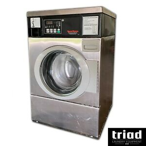 11 Speed Queen Stainless Horizon Coin Op Commercial Washer 1 Phase Laundromat