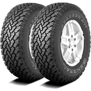 2 New General Grabber At2 255 70r16 111s A T All Terrain Tires
