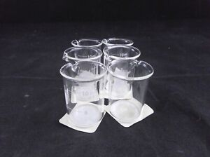 Pyrex Glass 10ml Low Form Griffin Beaker Clear Non graduated 1000 10 6 pack