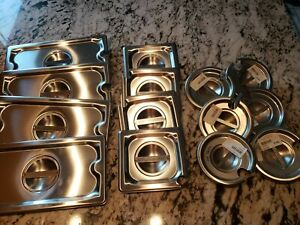 Lot 14 pc Steam Table Pan Lids Assortment Stainless Steel Restaurant Food New