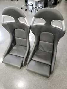 Porsche Rare Leather Full Bucket 911 Gt3 Leather Seat Left And Right Set