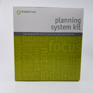 Franklin Covey Classic Binder Accessory Starter 2004 Planning System Kit Openbox