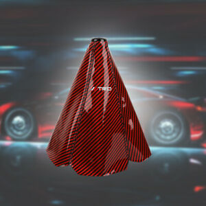 Trd Carbon Fiber Red Shift Boot Stitch For Gear Cover Shifter Shift Knob