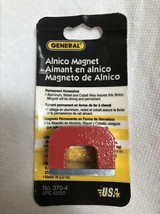 General Tools Horseshoe Alnico Magnet 22lb Pull 370 4 Made In England