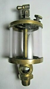 Old American Injector Co glass Sight Feed Drip Cylinder Oiler Hit Miss Engine 4